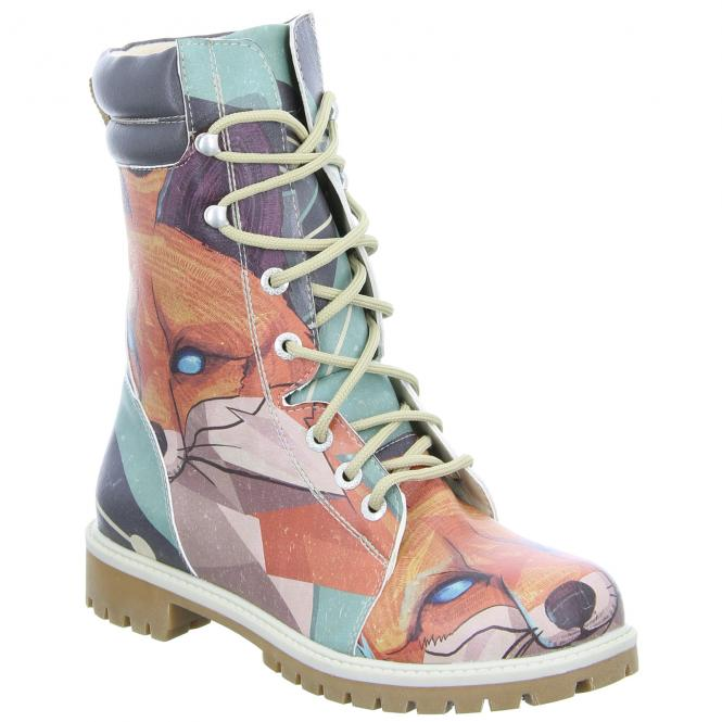 DOGO Damen Stiefel Red Fox